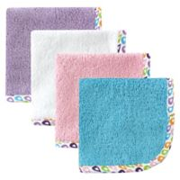 Babyvision® Hudson Baby® 4-Pack Lattice Woven Washcloth in Purple