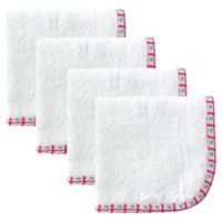 Babyvision® Hudson Baby® 4-Pack Lattice Woven Washcloth in White