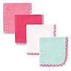 Babyvision® Hudson Baby® 4-Pack Lattice Woven Washcloth in Pink