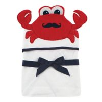 Baby Vision® Hudson Baby® Crab Hooded Towel in White