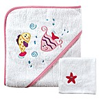 BabyVision® Luvable Friends® Fishes Hooded Towel and Washcloth Set in Pink