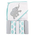 BabyVision® Luvable Friends® Elephant Hooded Towel and 5-Piece Washcloth Set