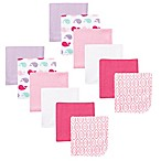BabyVision® Luvable Friends® 12-Pack Whale Washcloth Set in Pink