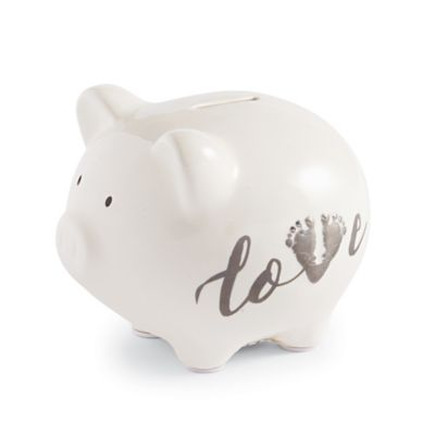 mud pie march of dimes piggy bank in white
