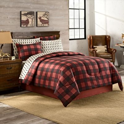 Mesa California King Comforter Set In Red/Black
