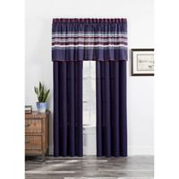 Acadia Window Curtain Panel Pair in Navy