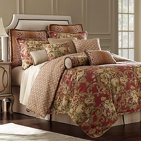 Rose tree durham reversible comforter set in coral bed - Bed bath and beyond palm beach gardens ...