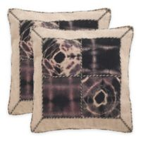 Safavieh Dip-Dye Quartre Patch 20-Inch Square Throw Pillows in Sumac (Set of 2)