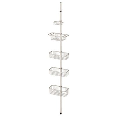 interdesign forma ultra tension shower caddy in brushed stainless steel
