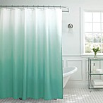 Ombre Weave Shower Curtain in Marine Blue