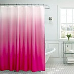 Ombre Weave Shower Curtain in Fuchsia