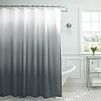 Ombre Weave Shower Curtain in Dark Grey