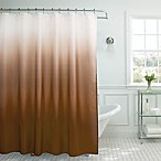 Ombre Weave Shower Curtain in Chocolate