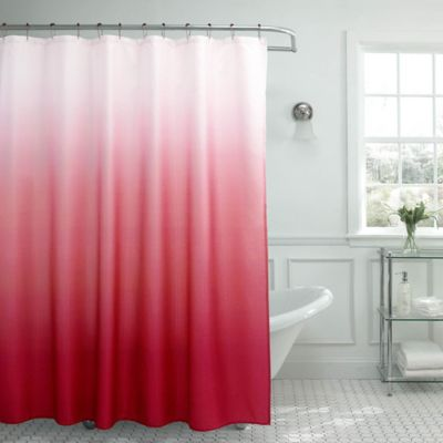 Ombre Weave Shower Curtain In Barn Red