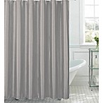 Jane Shower Curtain with Hooks in Silver