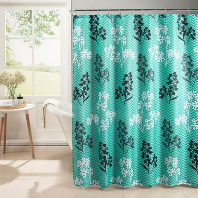 Whimsy Shower Curtain With Hooks In Turquoise