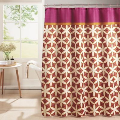 orange and brown shower curtain. Harajuku Shower Curtain with Hooks in Pink Orange Buy from Bed Bath  Beyond