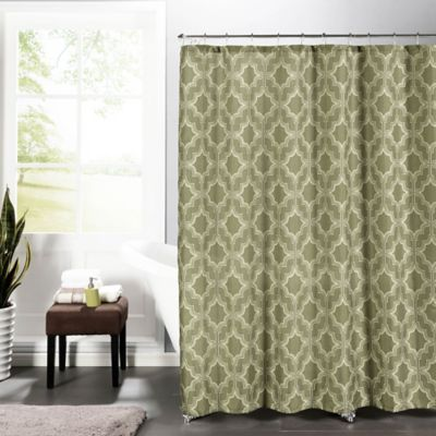 Loren Faux Linen Shower Curtain In Taupe