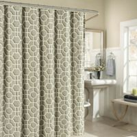 Lenox Cotton Shower Curtain in Taupe
