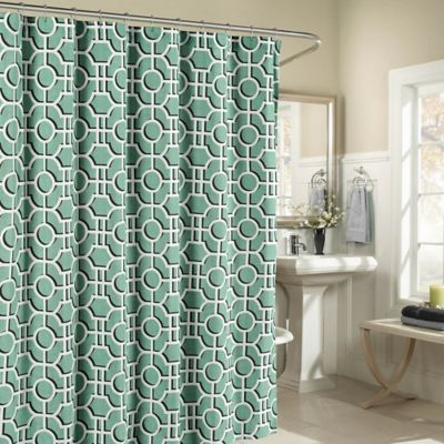Great Lenox Cotton Shower Curtain In Teal