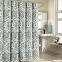 Biltmore 100% Cotton Shower Curtain in Grey