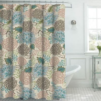 Buy Blue / Beige Shower Curtain from Bed Bath & Beyond