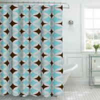 Avatar Shower Curtain in Hooks in Aqua