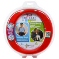 Potette® Plus 2-in-1 Travel Potty and Trainer Seat in Red