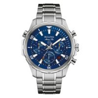 Bulova Marine Star Men's 43mm Blue Dial Chronograph Watch in Stainless Steel