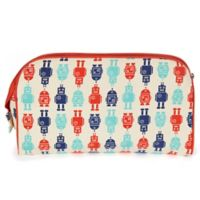 Keep Leaf Toiletry Bag/Diaper Clutch in Robots Print