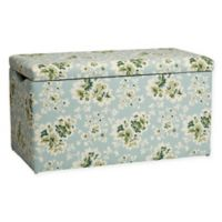 Skyline Furniture Skylar Storage Bench in Cecilia Sea Green