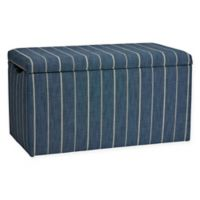 Skyline Furniture Skylar Storage Bench in Fritz Indigo
