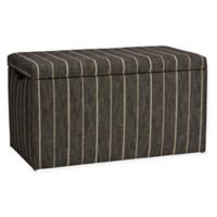 Skyline Furniture Skylar Storage Bench in Fritz Peppercorn