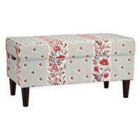 Skyline Furniture Katy Storage Bench in Geniesse Seagreen