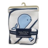 Nautica 2-Piece Hooded Towel and Washcloth Set in Navy