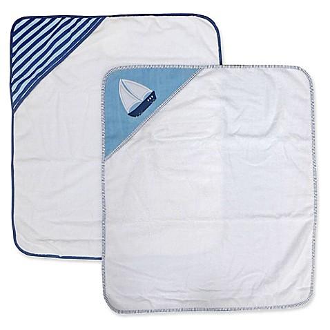 Nautica 2 Pack Hooded Towel Set In Navy Bed Bath Beyond