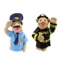 Melissa and Doug® Policeman and Firefighter Hand Puppets