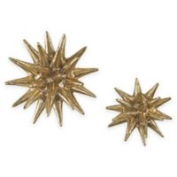 Sterling Industries Parsec 4-Inch and 6-Inch Composite Wall Art with Gold Finish (Set of 2)