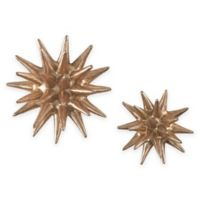 Sterling Industries Parsec 4-Inch and 6-Inch Composite Wall Art with Copper Finish (Set of 2)