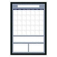 Mezzanotte Chevron Dry-Erase Blank Calendar in Blue