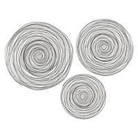Sterling Industries 3-Piece Triskele Gunmetal Grey with Gold Raw Iron Spiral Wall Décor