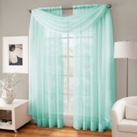 Crushed Voile Sheer Scarf Valance in Mint