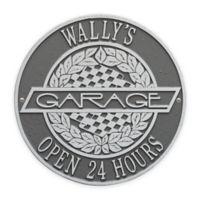 Whitehall Products 12-Inch Victory Lane Garage Plaque in Pewter Silver