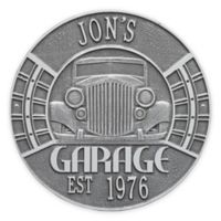 Whitehall Products 11.5-Inch Vintage Car Garage Plaque in Pewter Silver