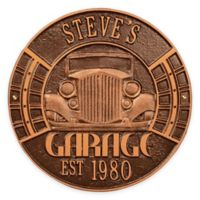 Whitehall Products 11.5-Inch Vintage Car Garage Plaque in Antique Copper