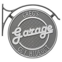 Whitehall Products 14-Inch Hanging Garage Plaque with Bracket in Pewter Silver