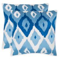 Safavieh Lexi 18-Inch x 18-Inch Throw Pillow in Indigo (Set of 2)