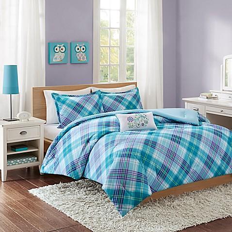 Mi Zone Reese Comforter Set In Teal Bed Bath Amp Beyond
