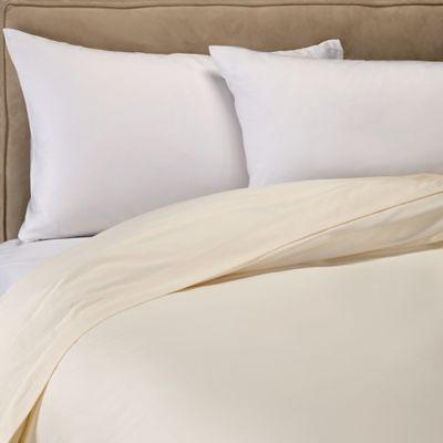 Sleep U0026 Beyond 400 Thread Count Organic Cotton Sateen Duvet Cover In Ivory