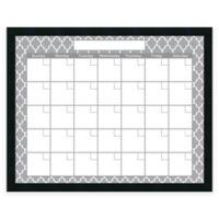 Mezzanotte Quatrefoil Dry-Erase Blank Calendar in White